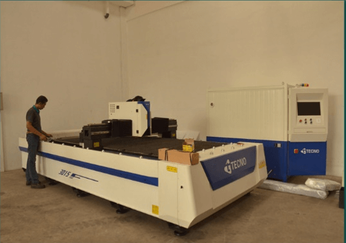 Mesin CNC Laser Cutting merk TECNO di Customer